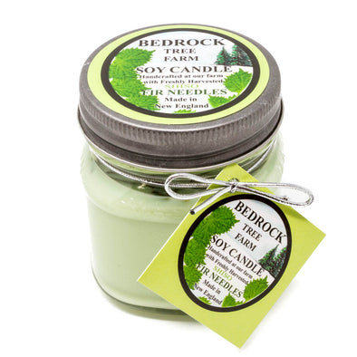 Glass Mason Jar Soy Candle Shiso 8oz-Bedrock Tree Farm Fir Needle Products