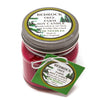 Glass Mason Jar Soy Candle Fir Needle Burgundy 8oz - Bedrock Tree Farm Fir Needle Products