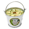 Galvanized Metal Pail Soy Candle Lemongrass 3oz - Bedrock Tree Farm Fir Needle Products