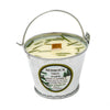 Galvanized Metal Pail Soy Candle Fir Needle Natural 3oz-Bedrock Tree Farm Fir Needle Products