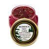 Glass Tureen Jar Soy Candle Fir Needle Burgundy 10oz-Bedrock Tree Farm Fir Needle Products