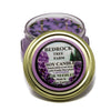 Glass Tureen Jar Soy Candle Lavender 6oz - Bedrock Tree Farm Fir Needle Products