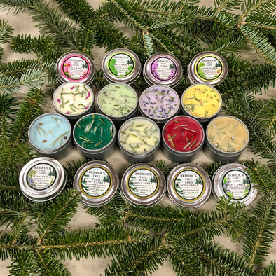 Scent Sampler Pack Metal Tins 2oz. Soy Wax-Bedrock Tree Farm Fir Needle Products