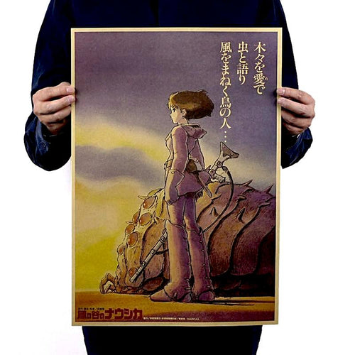 Vintage Nausicaä of the Valley of the Wind Poster