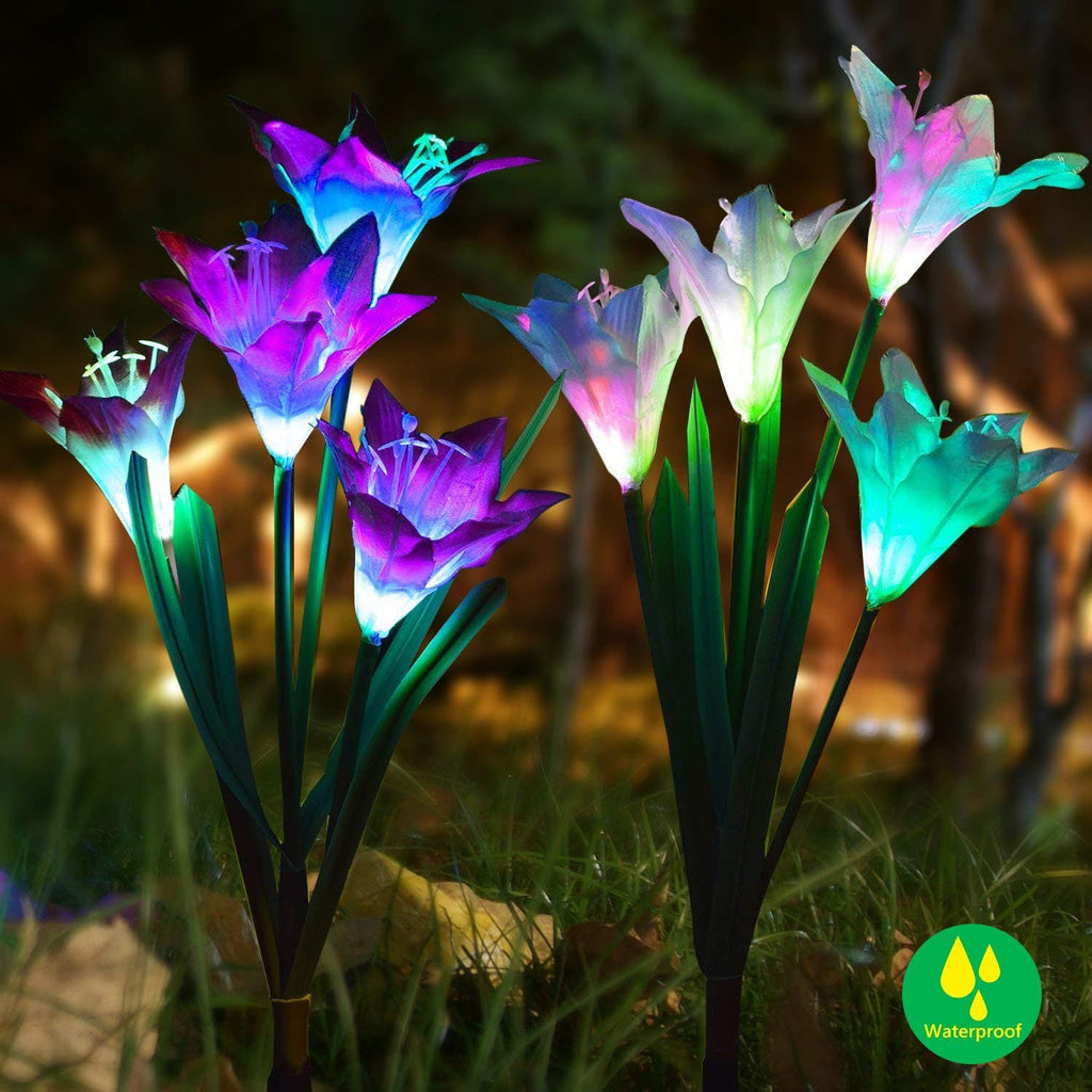 LED Solar Lily Flowers Light