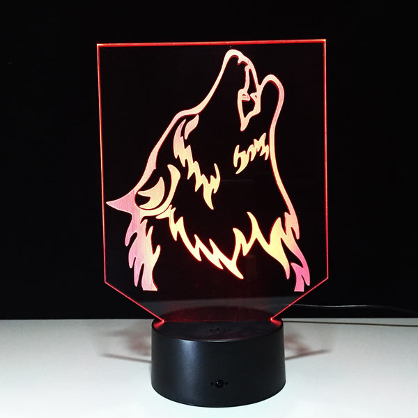 Novelty Wolf 3D Lamp