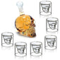 7Pcs/set Skull Wine Decanter + Glass
