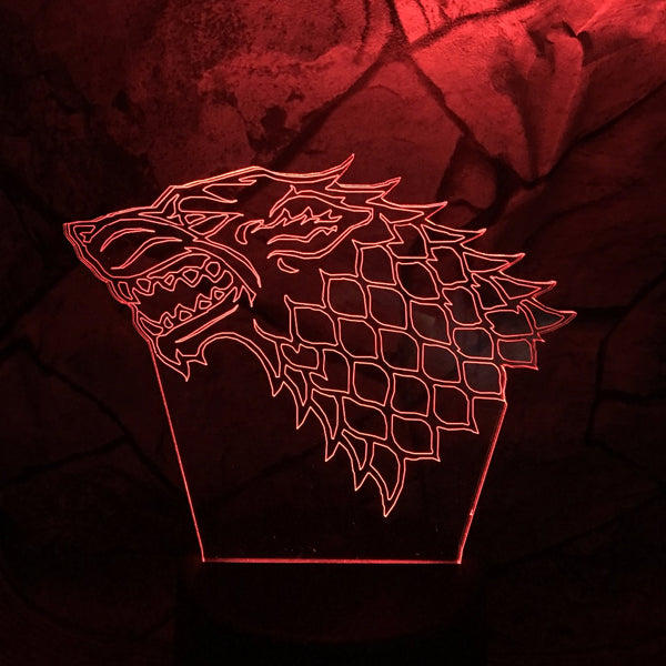 King of Wolves 3D Lamp