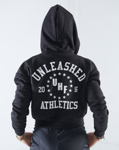 Black Unleashed Athletics Zip-Up Hoodie