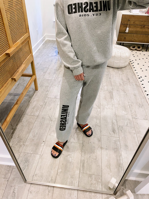 Heather Grey Unleashed Sweatpants