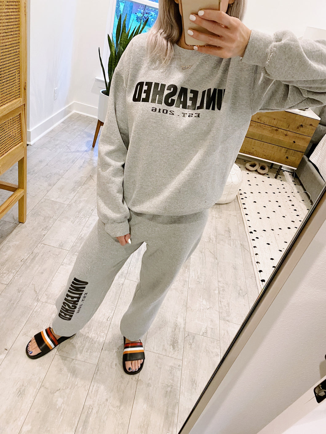 Heather Grey Unleashed Sweatshirt