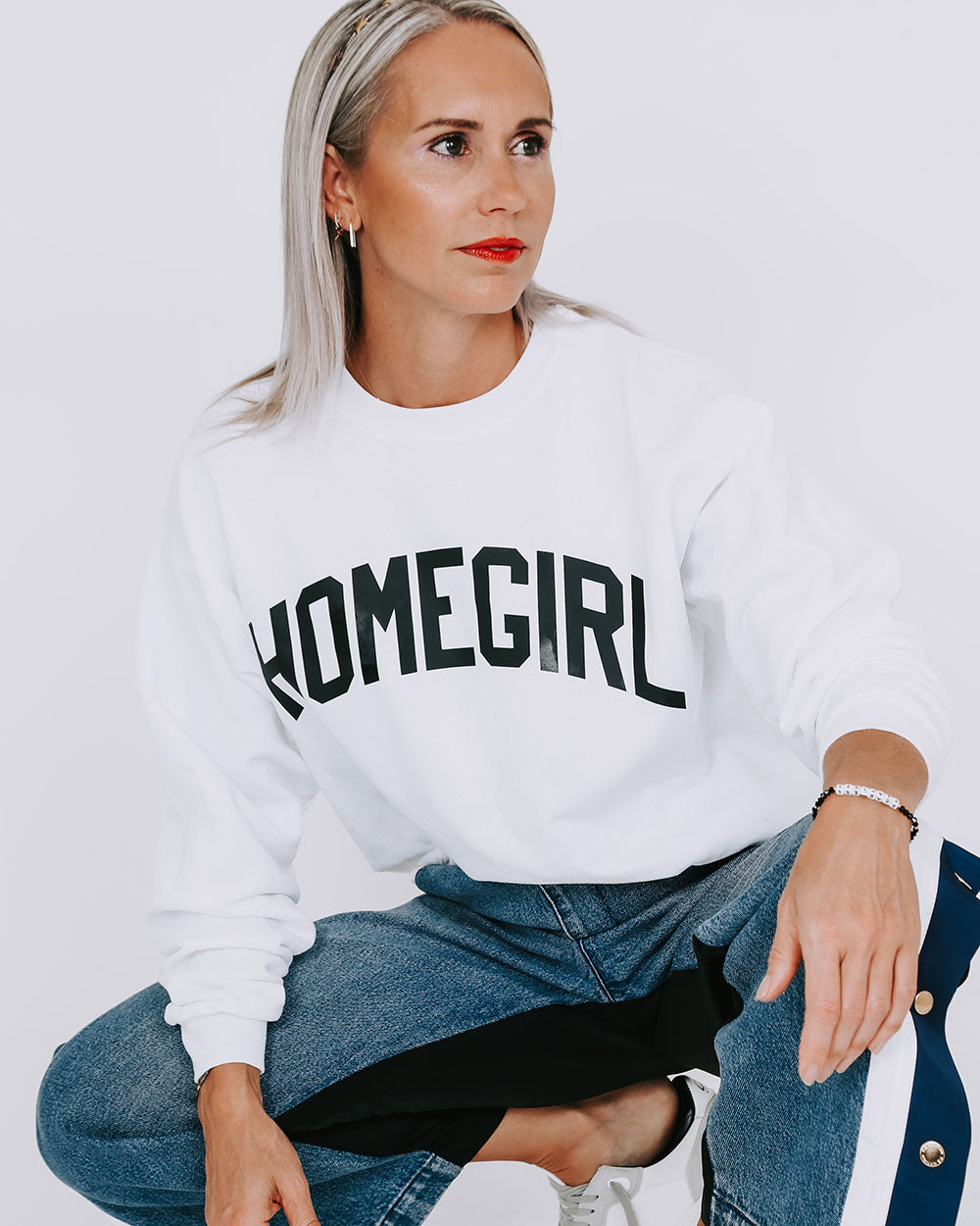 UHF Homegirl Sweatshirt - White