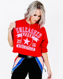 UHF Athletics Crop Sweatshirt - Red
