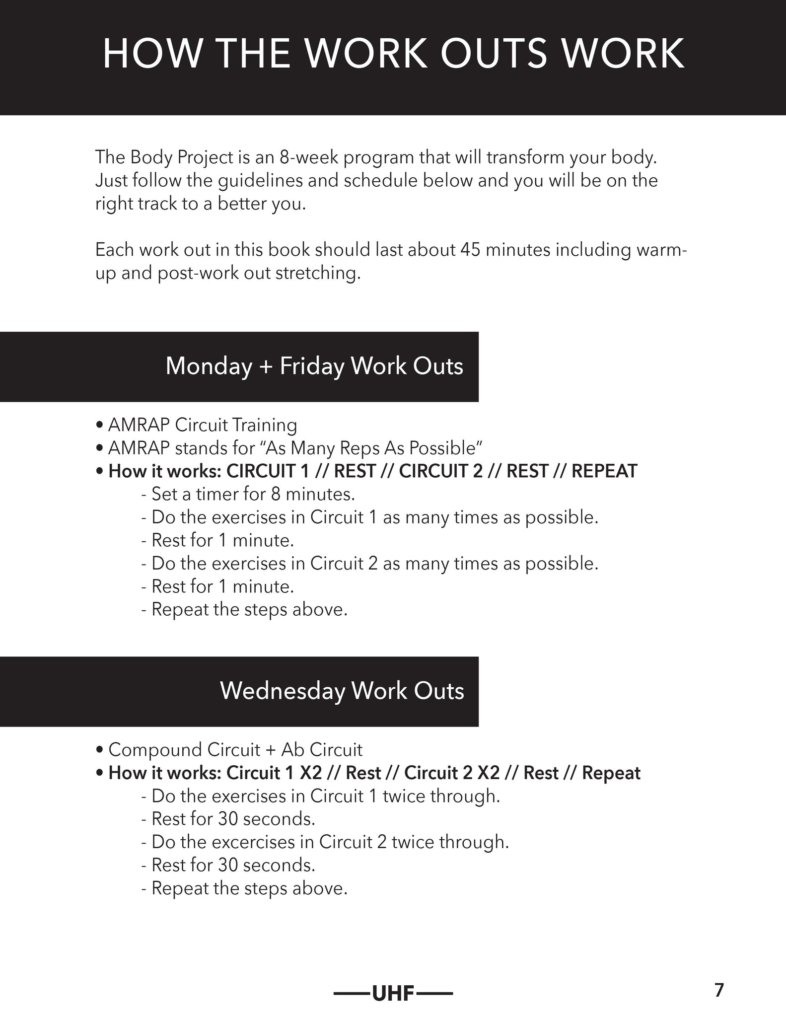 Unleashed Health Fitness Circuit Training Timer The Body Project Essential E Book