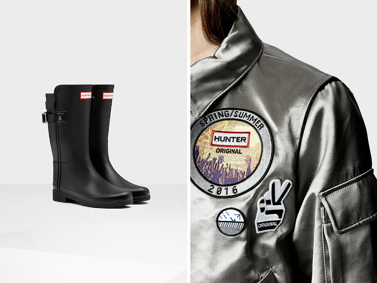 Hunter boots and jacket