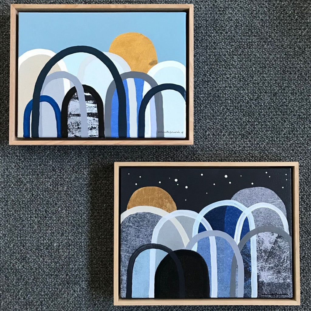Buy 'Bluestone Hills' & 'Northern Coast Hills' Original Artwork Duo - The Interiors Assembly