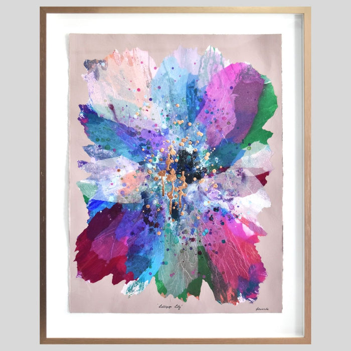 Buy 'Lollipop Lily' Original Artwork on Art Paper Framed - The Interiors Assembly