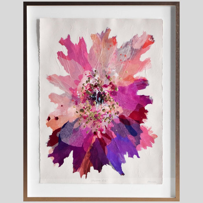 Buy 'Japanese Lily' Original Artwork on Art Paper Framed - The Interiors Assembly