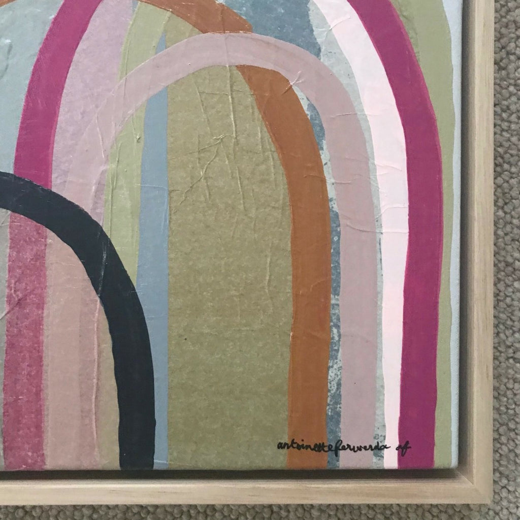 Buy 'Tan and Pink Hills' Original Artwork - The Interiors Assembly