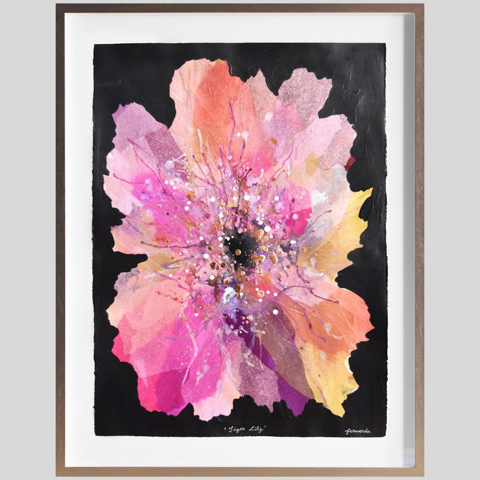 Buy 'Tiger Lily' Original Artwork on Art Paper Framed - The Interiors Assembly