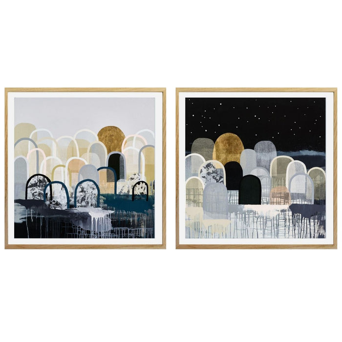 Buy DUO - ' STARLIGHT HILLS ' & ' GOLDEN HILLS ' - LIMITED EDITION ART PRINTS ( UNFRAMED ) - The Interiors Assembly