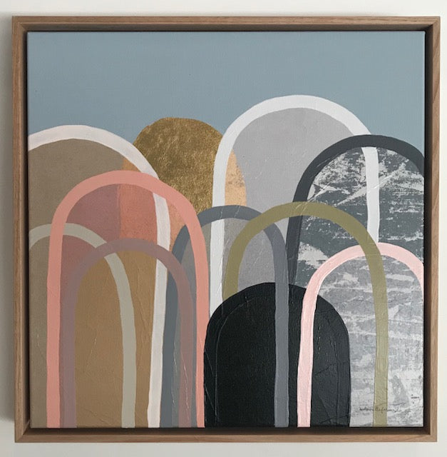 Buy Golden Hills with Dusty Pink Original Artwork - The Interiors Assembly