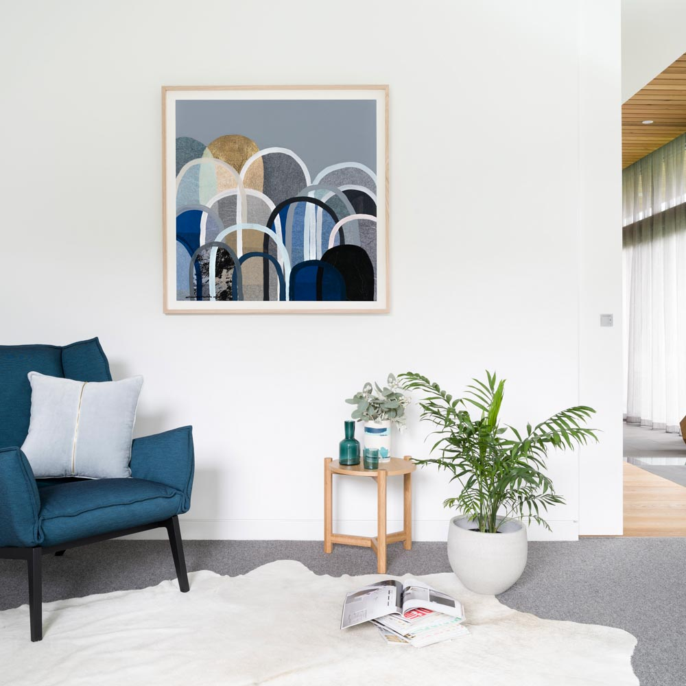 Buy 'NAVY HILLS' - LIMITED EDITION ART PRINT(UNFRAMED) - The Interiors Assembly