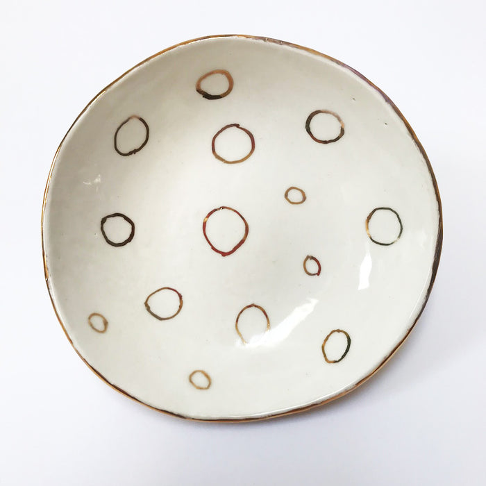 Buy Ceramic Handmade Bowl - Circles - The Interiors Assembly