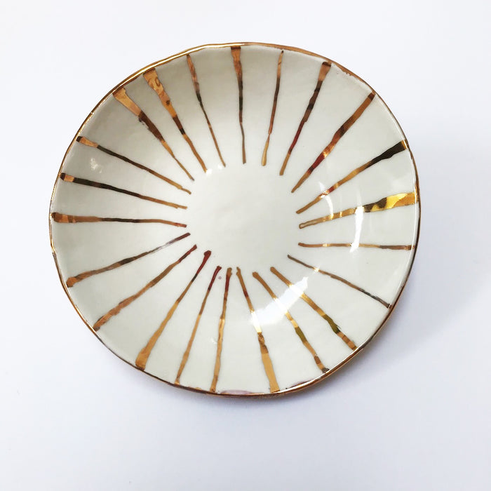 Buy Ceramic Handmade Bowl - Gold Stripe #2 - The Interiors Assembly