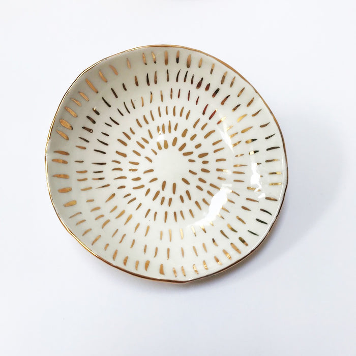 Buy Ceramic Handmade Bowl - Gold Stripe #3 - The Interiors Assembly