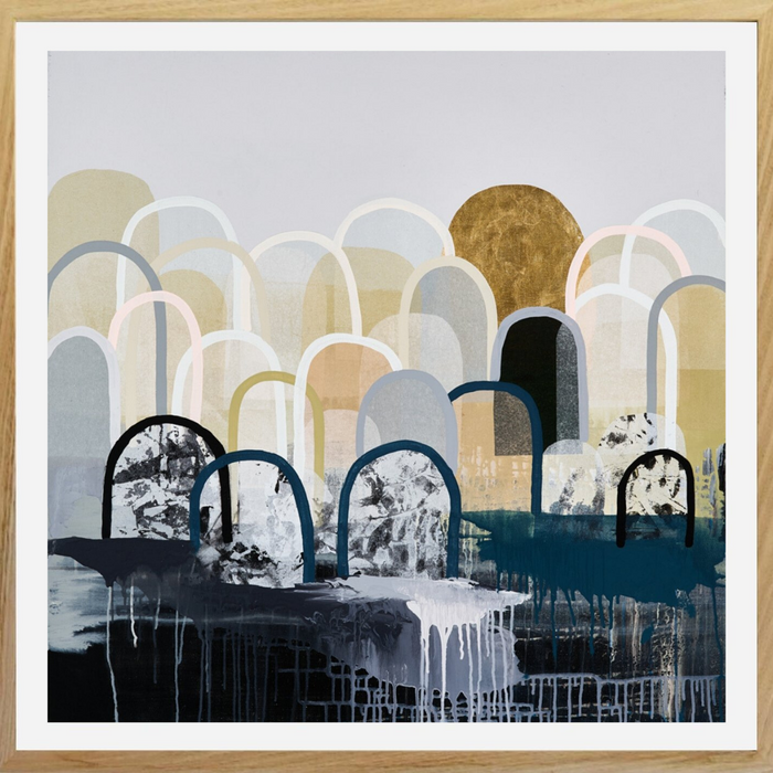 Buy GOLDEN HILLS - LIMITED EDITION ART PRINT ( UNFRAMED ) - The Interiors Assembly