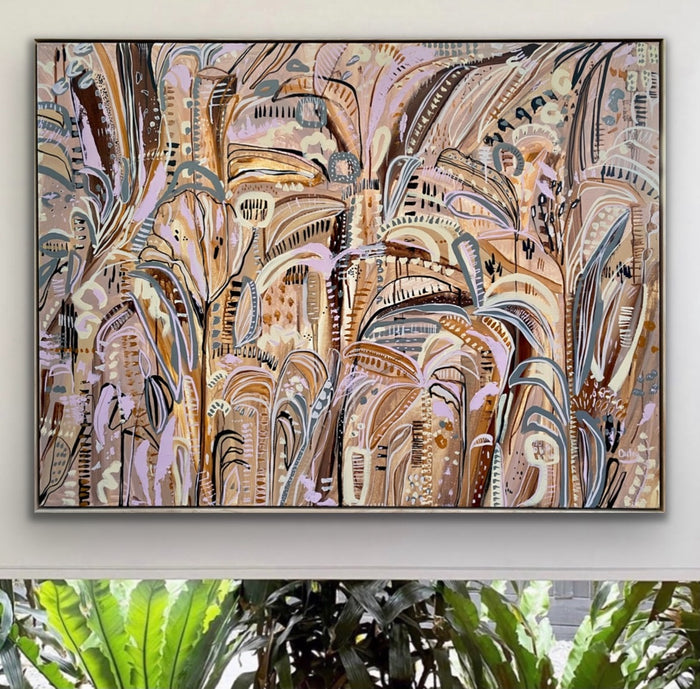 ' NEUTRAL PALMS  ' Original Artwork