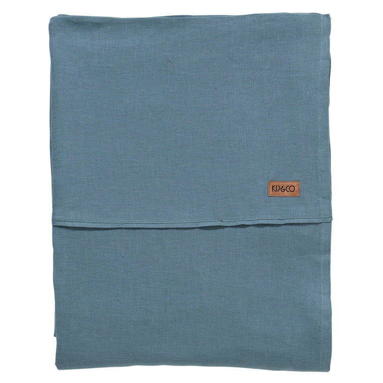 Kip & Co Slate Linen Flat Sheet- Queen