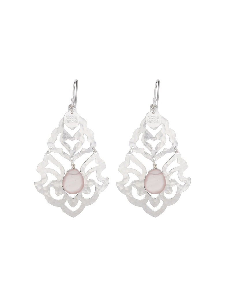 Nicole Fendel Freegrace Bead Earrings Rose Quartz - The Artisan Storeroom