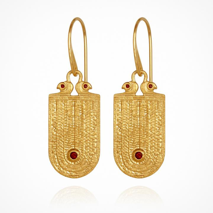 Temple of the Sun Seth Earrings Gold