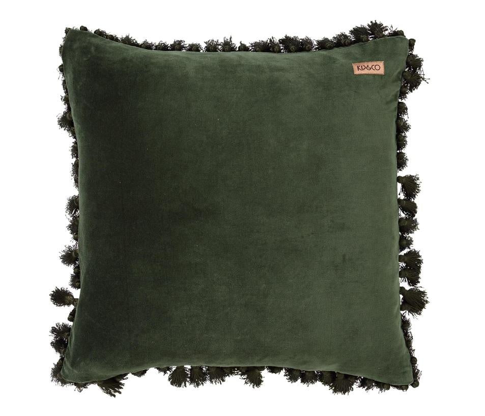 Kip & Co Kombu Green Tassel Cushion Cover - The Artisan Storeroom