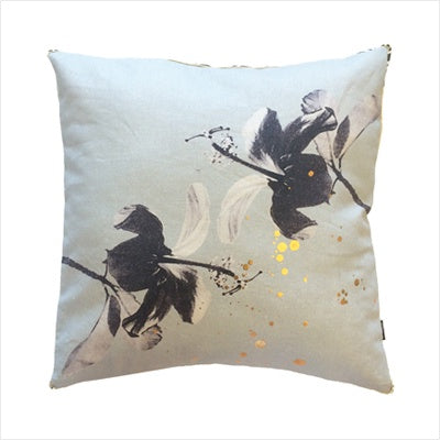 Ourlieu Hibiscus Sea Green Cushion - The Artisan Storeroom