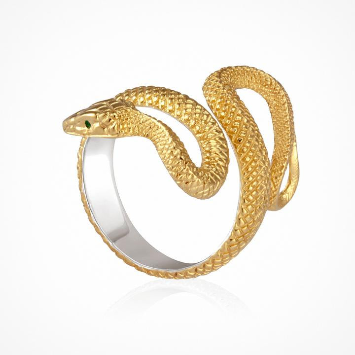 Temple of the Sun Serpent Ring Gold