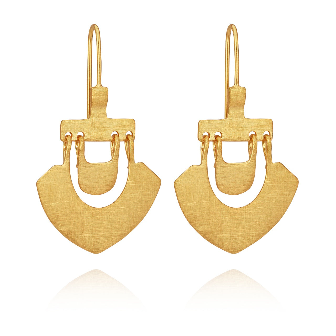 Lilu Earrings Gold - The Artisan Storeroom