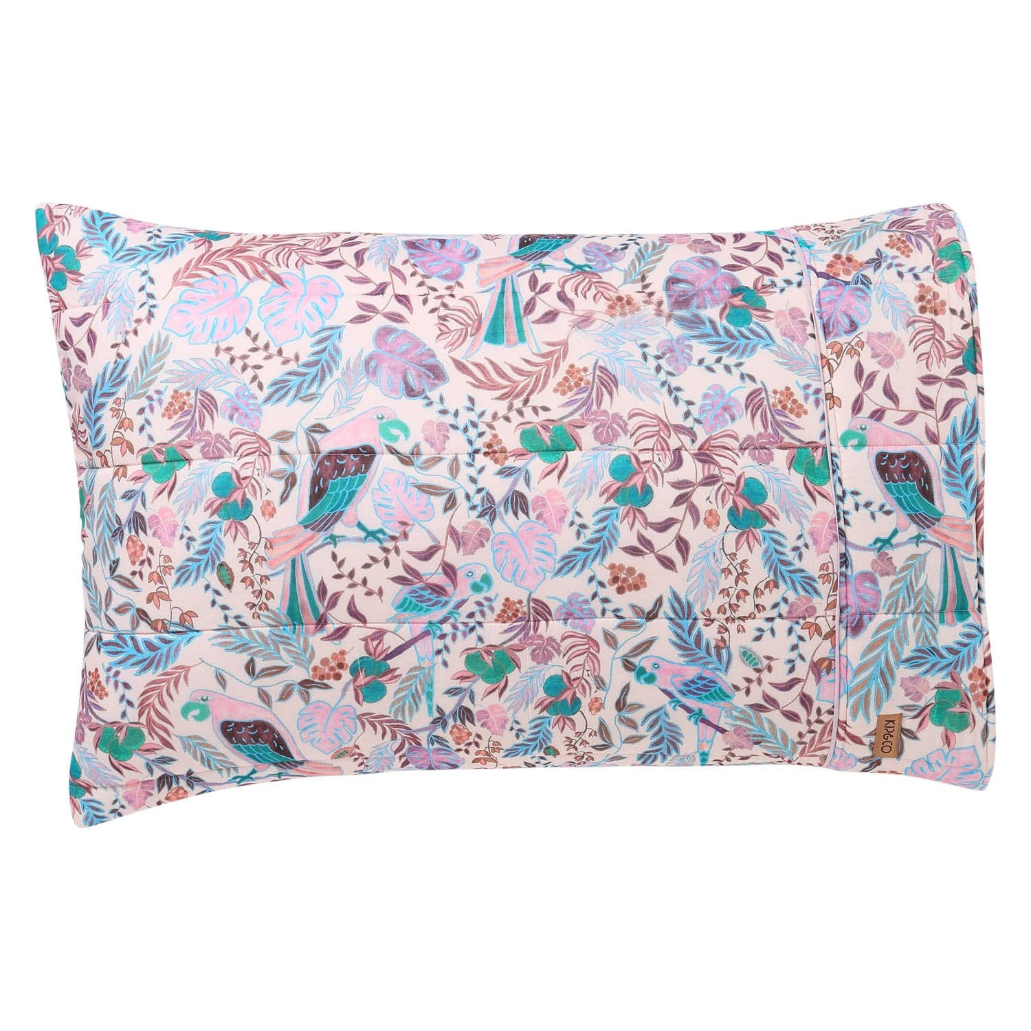 Kip & Co Little Paradiso Musk Quilted Pillowcase  2P - The Artisan Storeroom