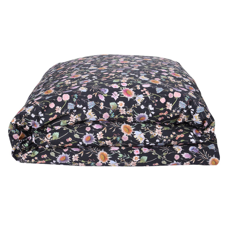 Kip & Co Bouquet Black Cotton Quilt Cover- Queen