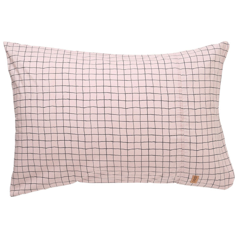 Kip & Co Check 1,2 Cotton Pillowcase 2P Set