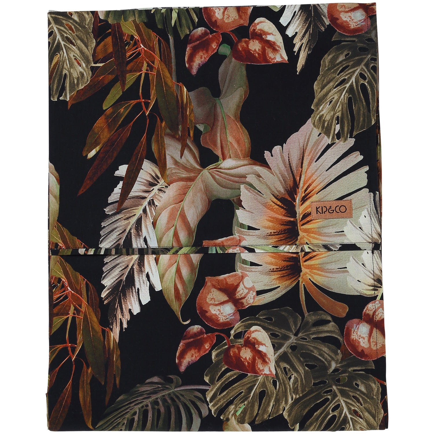 Kip & Co NIGHT JUNGLE COTTON FLAT SHEET- QUEEN