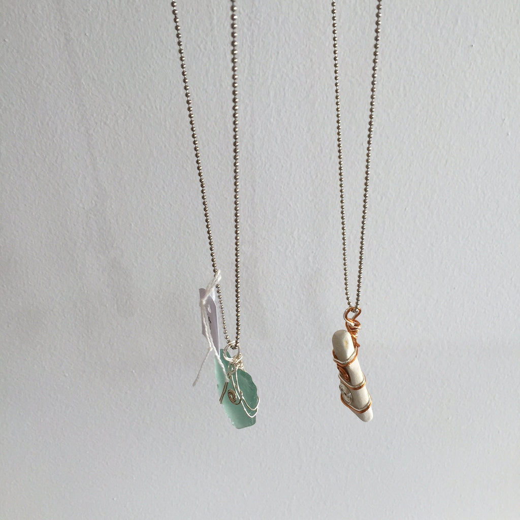 Sea Glass Necklaces - The Artisan Storeroom