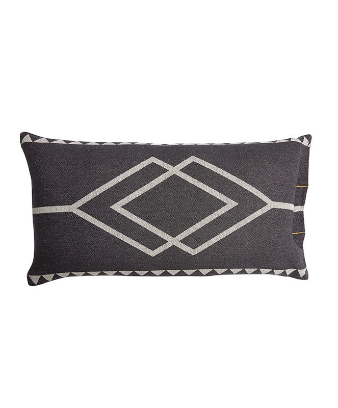 Pony Rider Dawn Ranger Cushion Oats/Black 85 x 45cm - The Artisan Storeroom