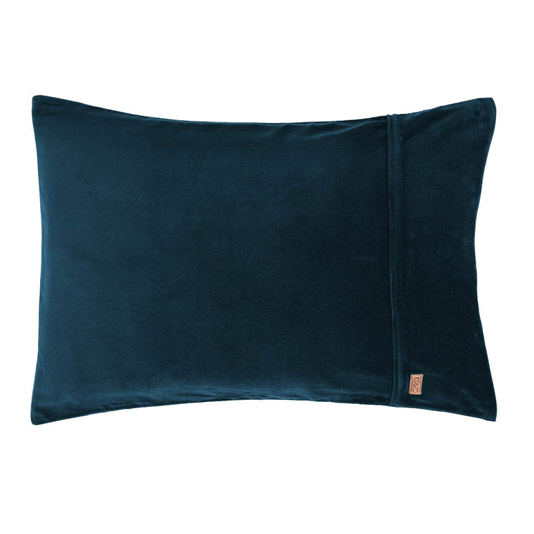 Kip & Co Teal Velvet Pillowcase Set 2P
