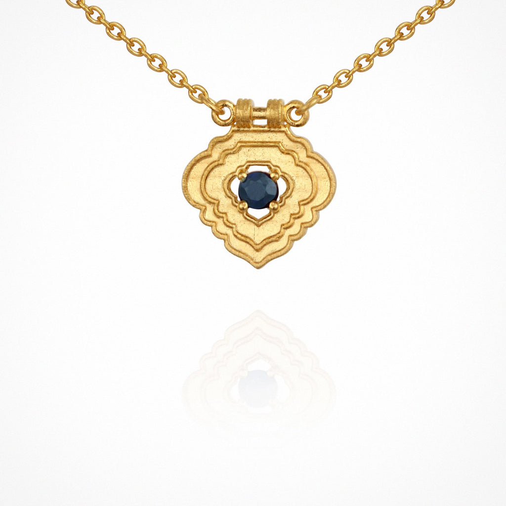 Temple of the Sun Aerin Necklace Gold - The Artisan Storeroom