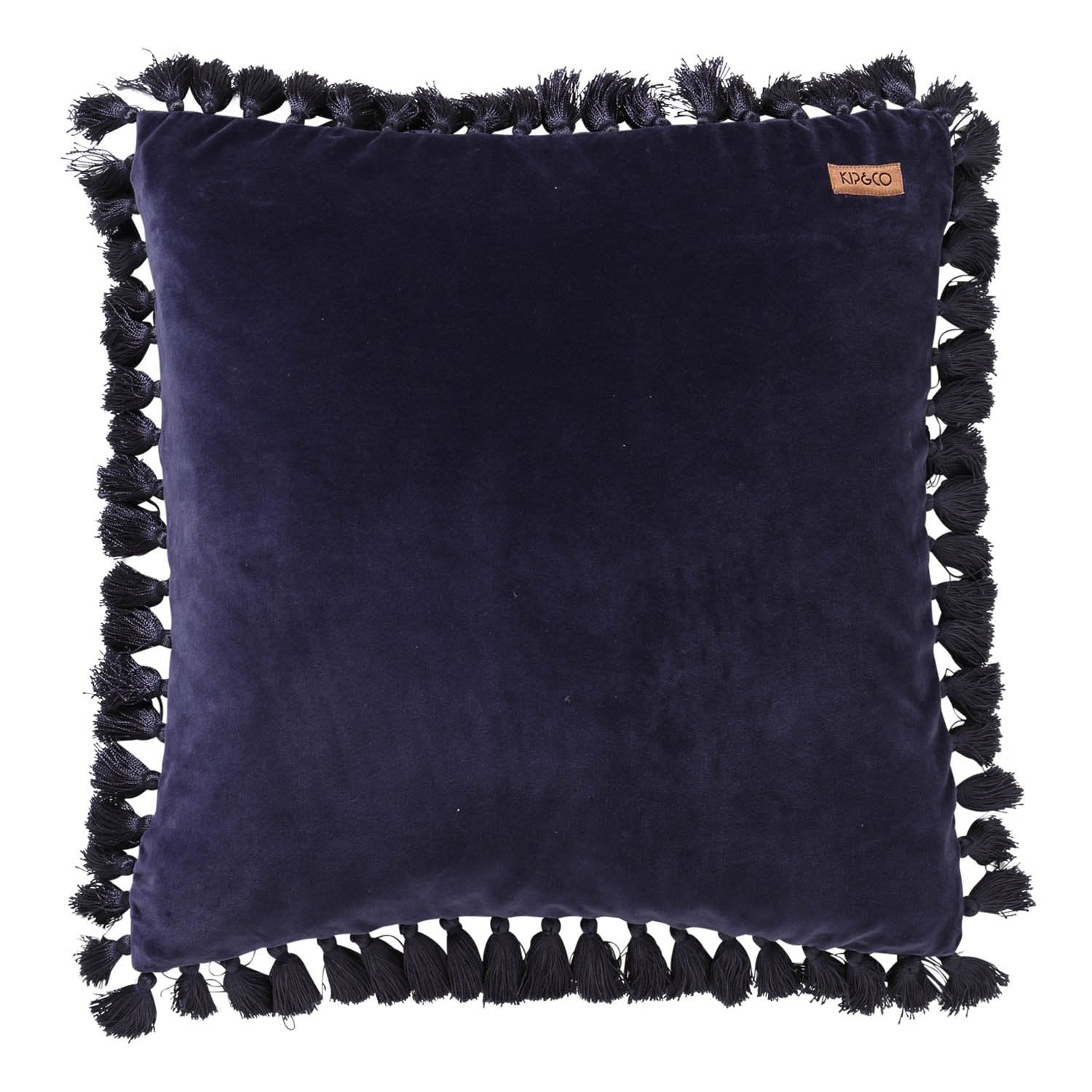 Kip & Co Navy Velvet Tassel Cushion - The Artisan Storeroom