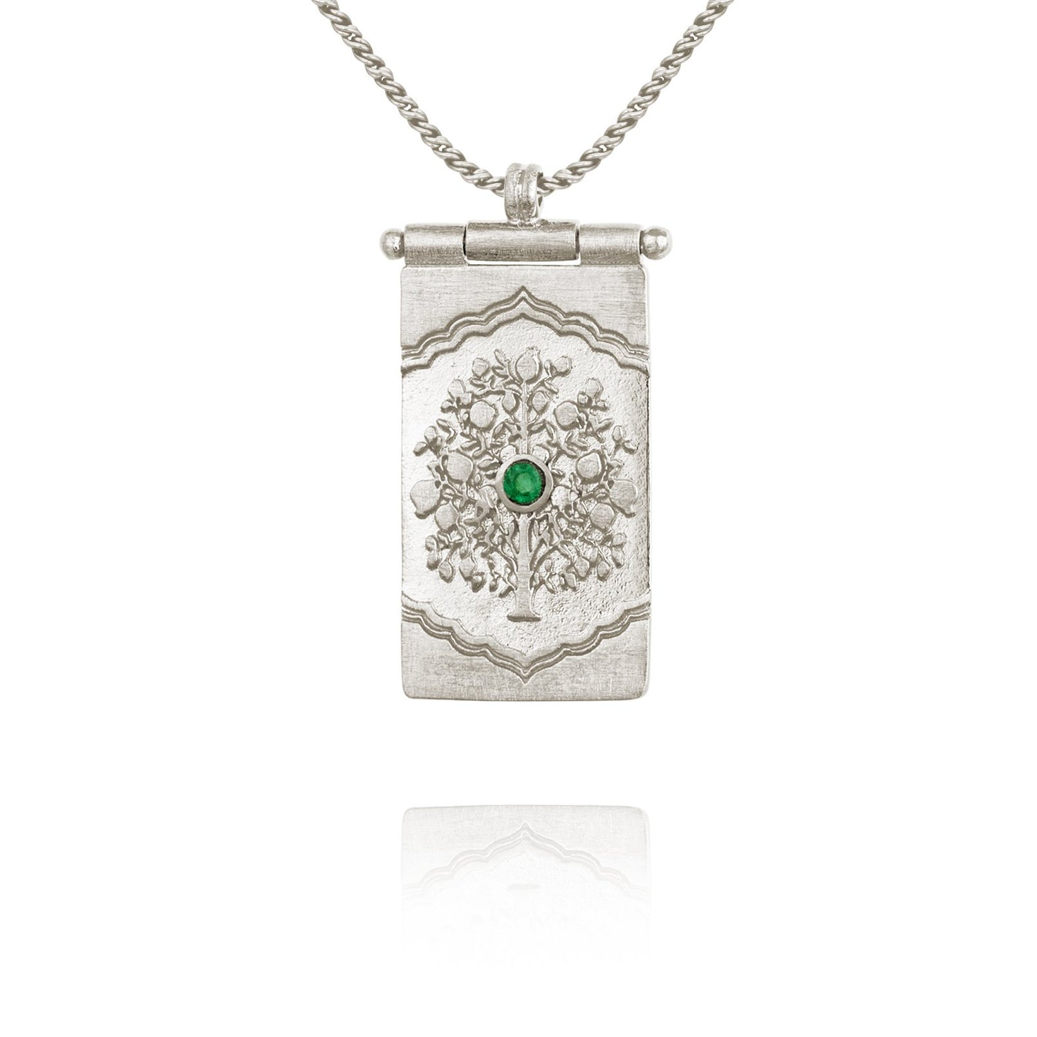 Temple of the Sun Tree of Life Necklace Silver - The Artisan Storeroom