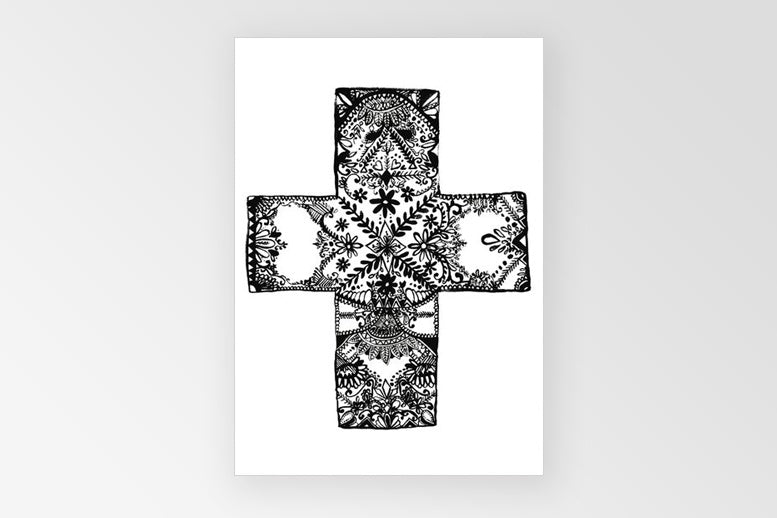 Rachel Kennedy A3 Love/Cross Print